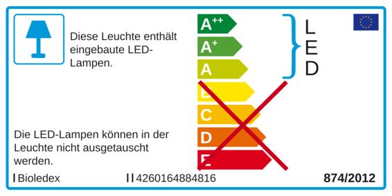A+ /' BIOleDEX Klemmleuchte /'GoLeaf/' Tischlampe Kunststoff Wohnzimmerleuchte