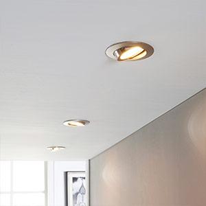 LED-Einbaustrahler Andrej, rund, nickel, 3er-Set