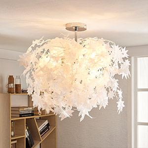 Deckenlampe Maple mit Blättern, 38 cm