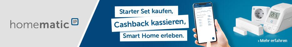 Homematic IP - Smart starten. Cashback sichern