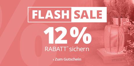 Flash Sale - 12 % Rabatt* sichern