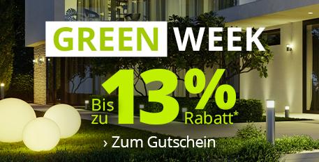 Green Week - Bis zu 13 % Rabatt* sichern