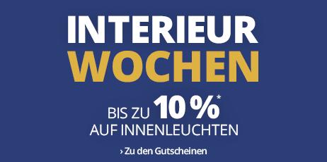 Interieur Wochen: Bis zu 10 % Rabatt auf Innenleuchten