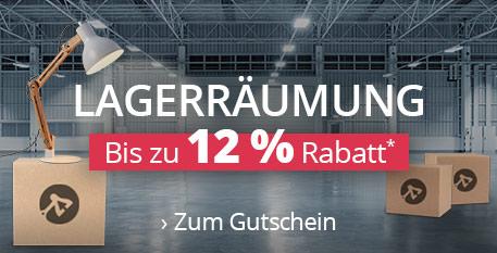 Lagerräumung - Bis zu 12 % Rabatt*