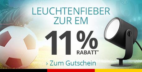 Leuchtenfieber zur EM - Jetzt 11 % Rabatt* sichern