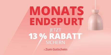Monatsendspurt - 13 % Rabatt sichern