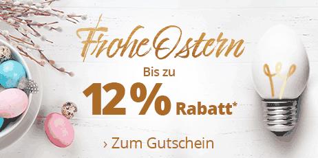 Frohe Ostern - Bis zu 12 % Rabatt