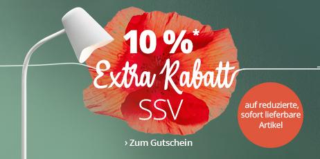 SSV - 10 % Extra-Rabatt auf reduzierte, sofort lieferbare Artikel