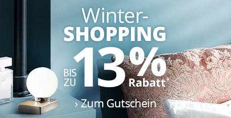Winter-Shopping - Bis zu 13 % Rabatt