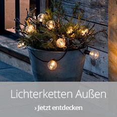 Lichterketten für den Außenbereich