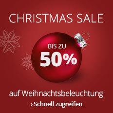 Christmas SALE - Bis zu 50 % auf Weihnachtsbeleuchtung