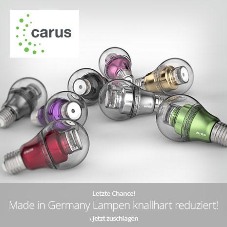 Carus Leuchtmittel Abverkauf