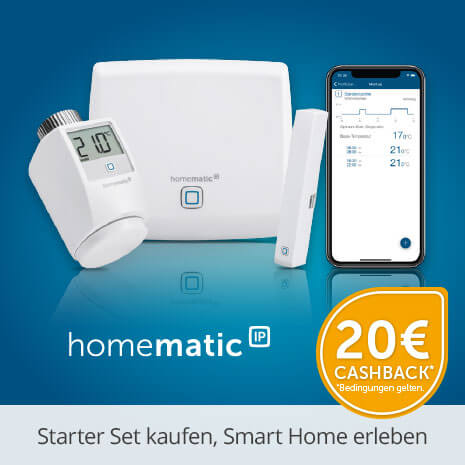 20 € Cashback von homematic IP