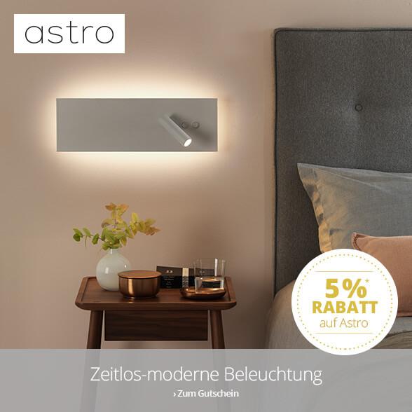 Zeitlos - Moderne Beleuchtung: 5 % auf Astro-Leuchten