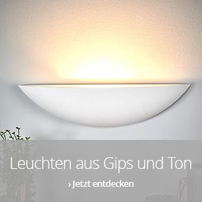 Leuchten aus Gips und Ton