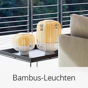 Leuchten aus Bambus