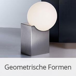 Leuchten in geometrischen Formen