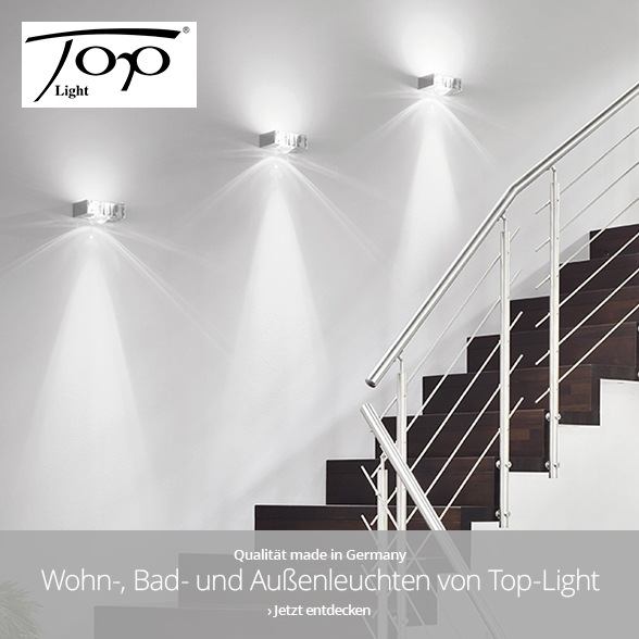 Wohn-, Bad- und Außenleuchten von Top-Light
