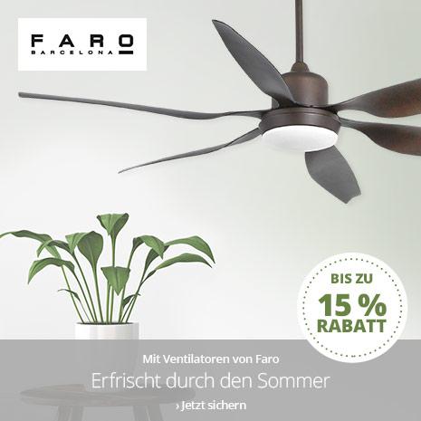 Ventilatoren von Faro bis zu 15 % reduziert