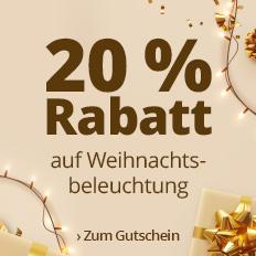 Jetzt 20 % Rabatt auf Weihnachtsbeleuchtung