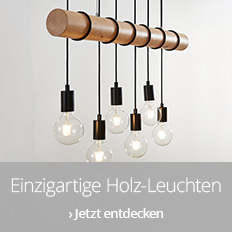 Einzigartige Holz-Leuchten