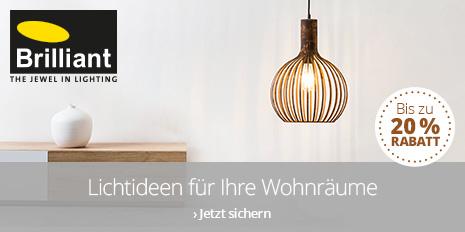 Lichtideen von Brilliant - Bis zu 20 % Rabatt