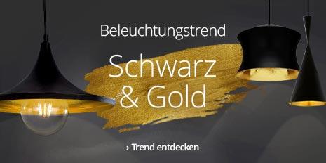 Leuchten in Schwarz & Gold