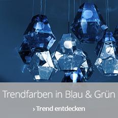 Trendfarben in Blau & Grün