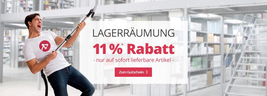 Lagerräumung: 11 % Rabatt auf sofort lieferbare Artikel