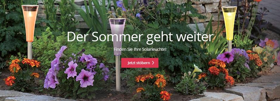 Der Sommer geht weiter - Finden Sie Ihre Solarleuchte!
