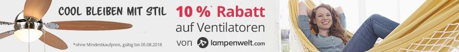 Jetzt 10 % auf Ventilatoren von Lampenwelt.com