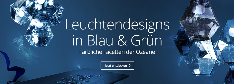 Leuchtendesigns in Blau & Grün