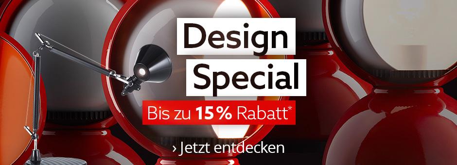 Design Special - bis zu 15 % Rabatt