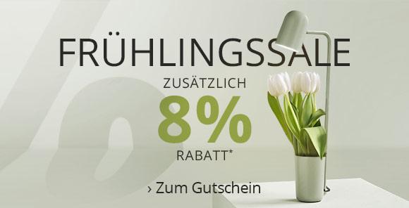 Frühlingssale - 8 % Extra-Rabatt