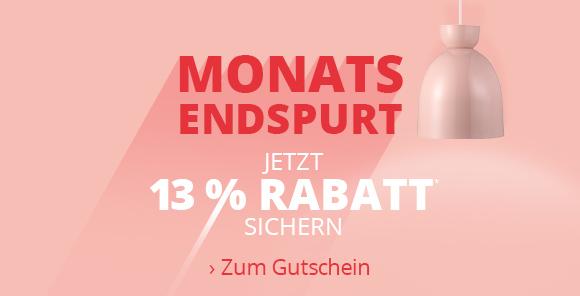 Monatsendspurt - 13 % Rabatt