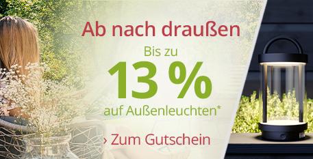Ab nach draußen: Bis zu 13 % auf Außenleuchten*