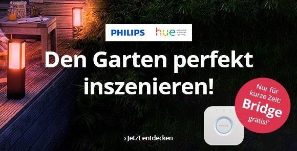 Philips hue - Den Garten perfekt inszenieren