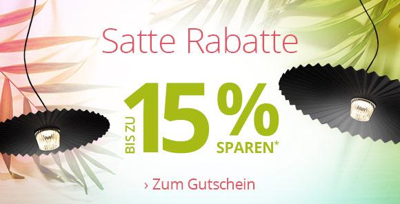 Satte Rabatte - Bis zu 15 % Rabatt* sichern