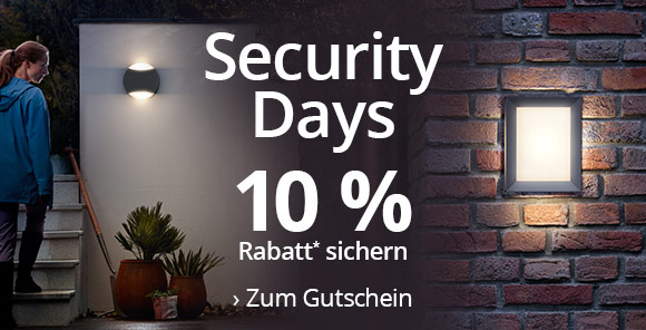 Security Days -10 % Rabatt* sichern