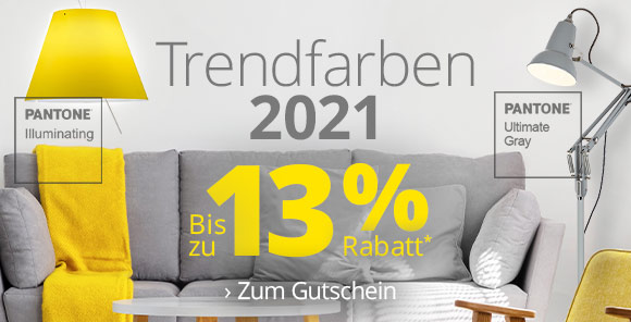 Trendfarben 2021 - Bis zu 13 % Rabatt