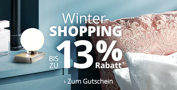 Winter-Shopping - Bis zu 13 % Rabatt