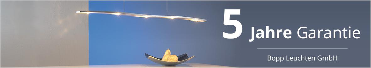 Bopp Leuchten GmbH garantiert 5 Jahre Garantie auf LED-Leuchten