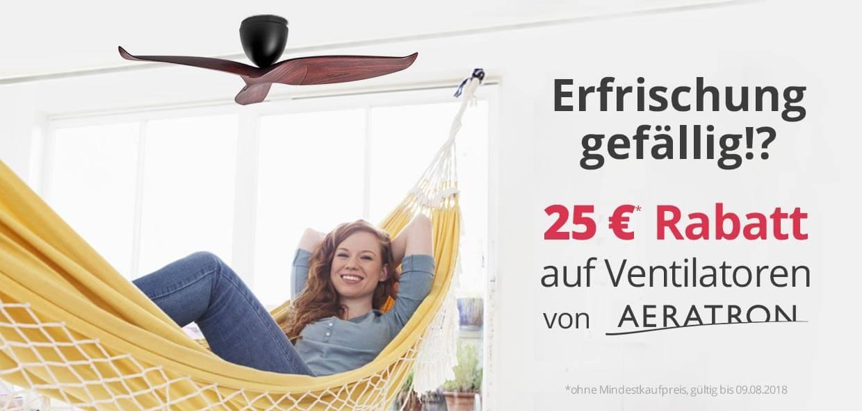 Erfrischung gefällig!? 25 € Rabatt auf Ventilatoren von Aeratron