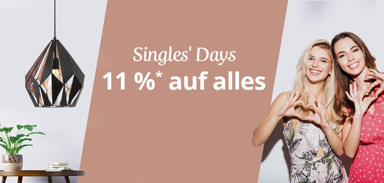 Die Singles' Days bei Lampenwelt.de