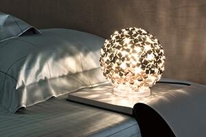 Schmuckvoll gestaltete Tischlampe Ortenzia