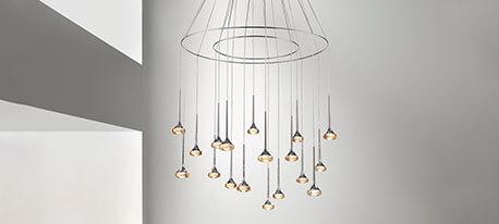 Mehrflammige LED-Hängeleuchte Fairy