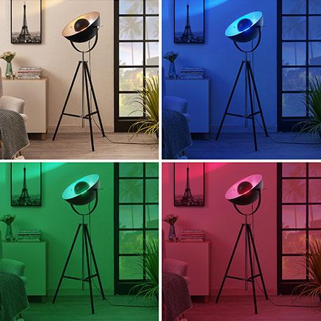 Lindby Smart LED-Dreibein-Stehlampe Muriel