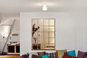 Mundgeblasene LED-Designer-Deckenleuchte Annex