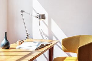 Edelstahl-Schreibtischleuchte Job