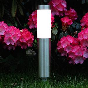 Zylindrisch geformte LED-Erdspießlampe Freya